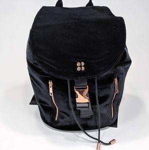 Sweaty Betty Velvet Backpack Rosetone Faux Leather